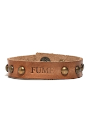 Fume Unisex Brown Leather Bracelet