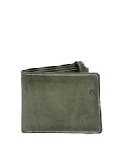 Fume Unisex Green Leather Wallet