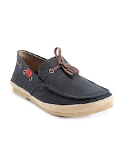 Funk Men Black Boat Shoes