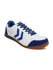 G Sports Men White & Blue Aster Casual Shoes