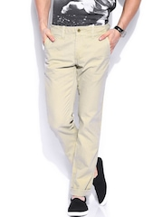 GANT Men Beige Soho Narrow Fit Chino Trousers