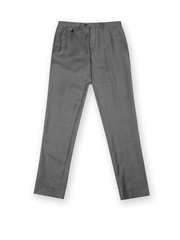 GANT Men Grey & Black Tailored Fit Trousers