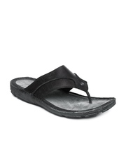 GAS Men Black & Grey Leather Glint Sandals