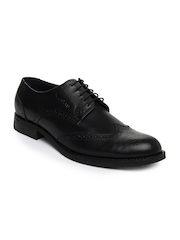 GAS Men Black Brogan Leather Formal Shoes