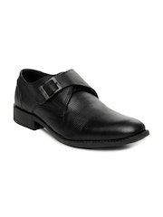 GAS Men Black Deen Leather Semi-Formal Shoes