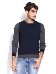 GAS Men Blue & Grey Yulian Sweater