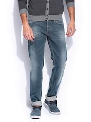 GAS Men Blue Morrison Straight Fit Jeans