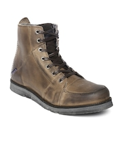 GAS Men Brown Cyclops Leather Boots