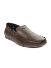 GAS Men Brown Drive Leather Smart Casual Shoes