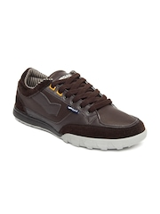 GAS Men Brown Kup Casual Shoes