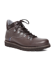GAS Men Brown Leather Casual Shoes