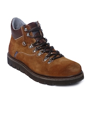 GAS Men Brown Suede Casual Shoes