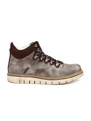 GAS Men Brown Camo Printed Casual Shoes