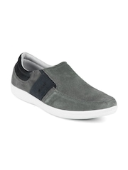 GAS Men Grey Seude Casual Shoes