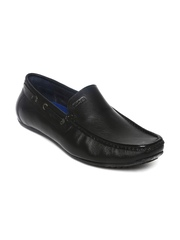GAS Men Black Leather Casual Shoes