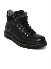 GAS Men Black Leather Casual Shoes