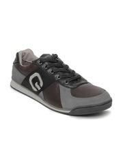 GAS Men Brown & Black Leather Casual Shoes