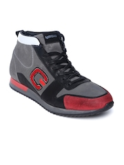 GAS Men Grey Balk Leather Casual Shoes