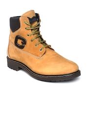 GAS Men Mustard Yellow Pulsar Leather Boots
