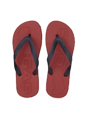 GAS Men Navy Blue Freak Flip Flops