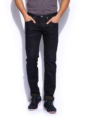 GAS Men Navy Mitch Straight Fit Jeans
