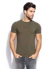 GAS Men Olive Green T-shirt