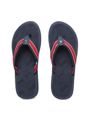 GAS Men Navy Blue & Red Flip Flops