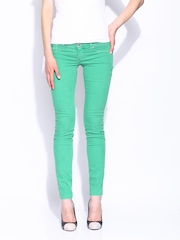 GAS Women Green Jeggings