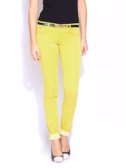 GAS Women Yellow Sumatra Jeggings