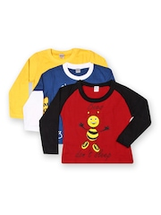 GKIDZ Boys Pack of 3 Printed T-shirts