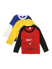 GKIDZ Boys Pack of 3 T-shirts