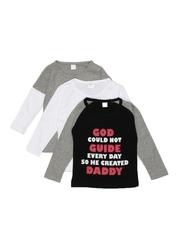 GKIDZ Girls Pack of 3 T-shirts