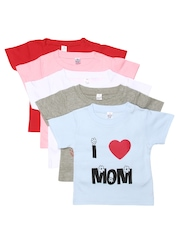 GKIDZ Pack of 5 Printed T-shirts