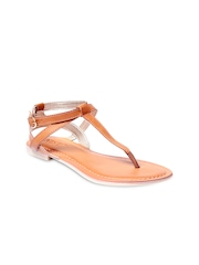 GNIST Women Tan Brown Flats