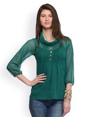 GRITSTONES Women Green Top