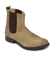 Ganuchi Men Light Brown Leather Boots