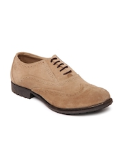 Ganuchi Men Mushroom Brown Leather Brogues