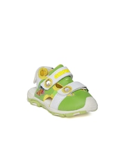 Garfield Kids Green & White Sports Sandals