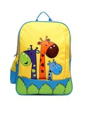 Gear Kids Blue & Yellow Printed School Bag