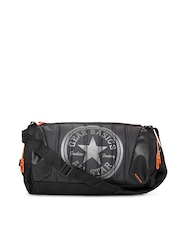 Gear Unisex Black & Orange Duffle bag