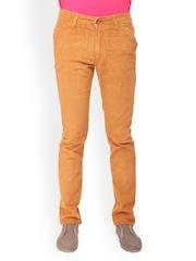 Gesture Jeans Men Orange Slim Fit Jeans