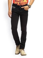 Gesture Jeans Men Black Slim Fit Jeans