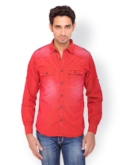 Gesture Jeans Men Red Casual Shirt