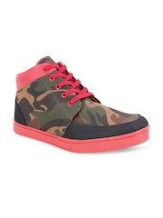 Get Glamr Men Red Casual Shoes