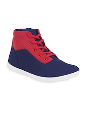 Get Glamr Men Blue & Red Casual Shoes