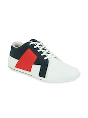 Men White & Navy Casual Shoes Get Glamr