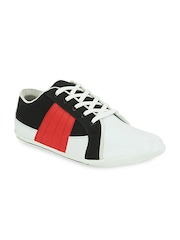 Men White & Black Casual Shoes Get Glamr