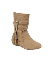 Get Glamr Women Beige Boots