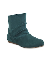 Get Glamr Women Teal Green Boots