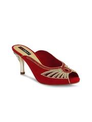 Get Glamr Women Red Peep-Toes